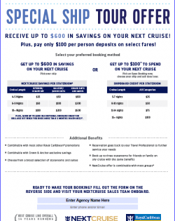 NC Ship Tour Offer